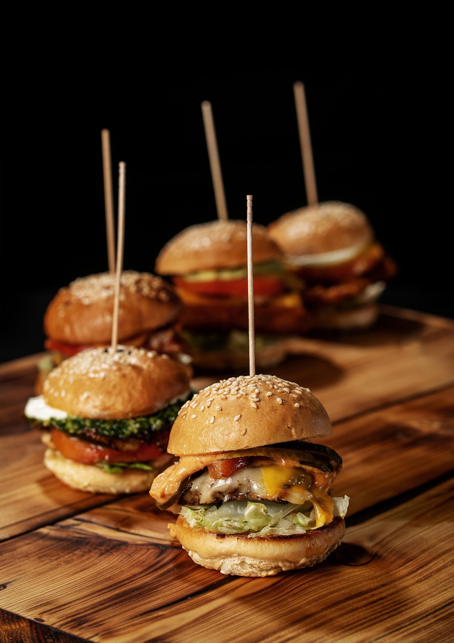 Burgerglück Catering Menü Hamburgerplatte