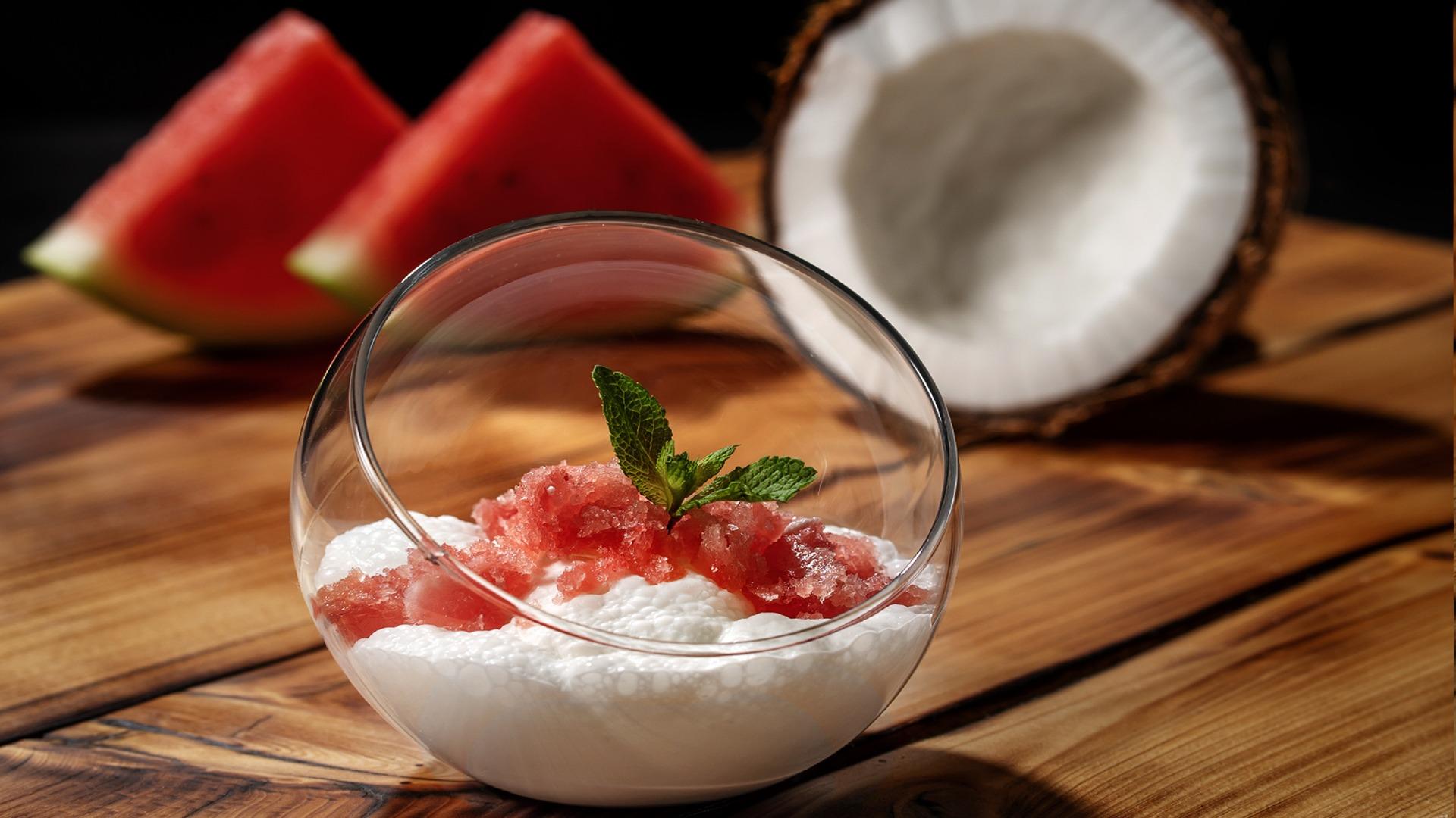 Kokos Melonen Dessert