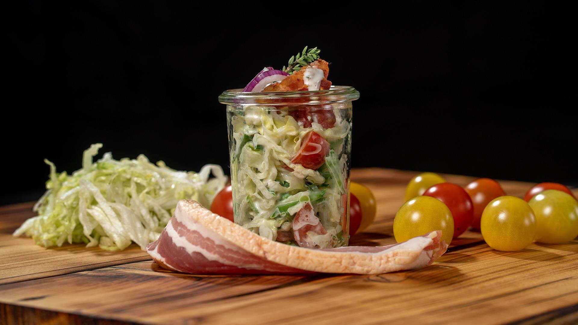 Salat mit Speck